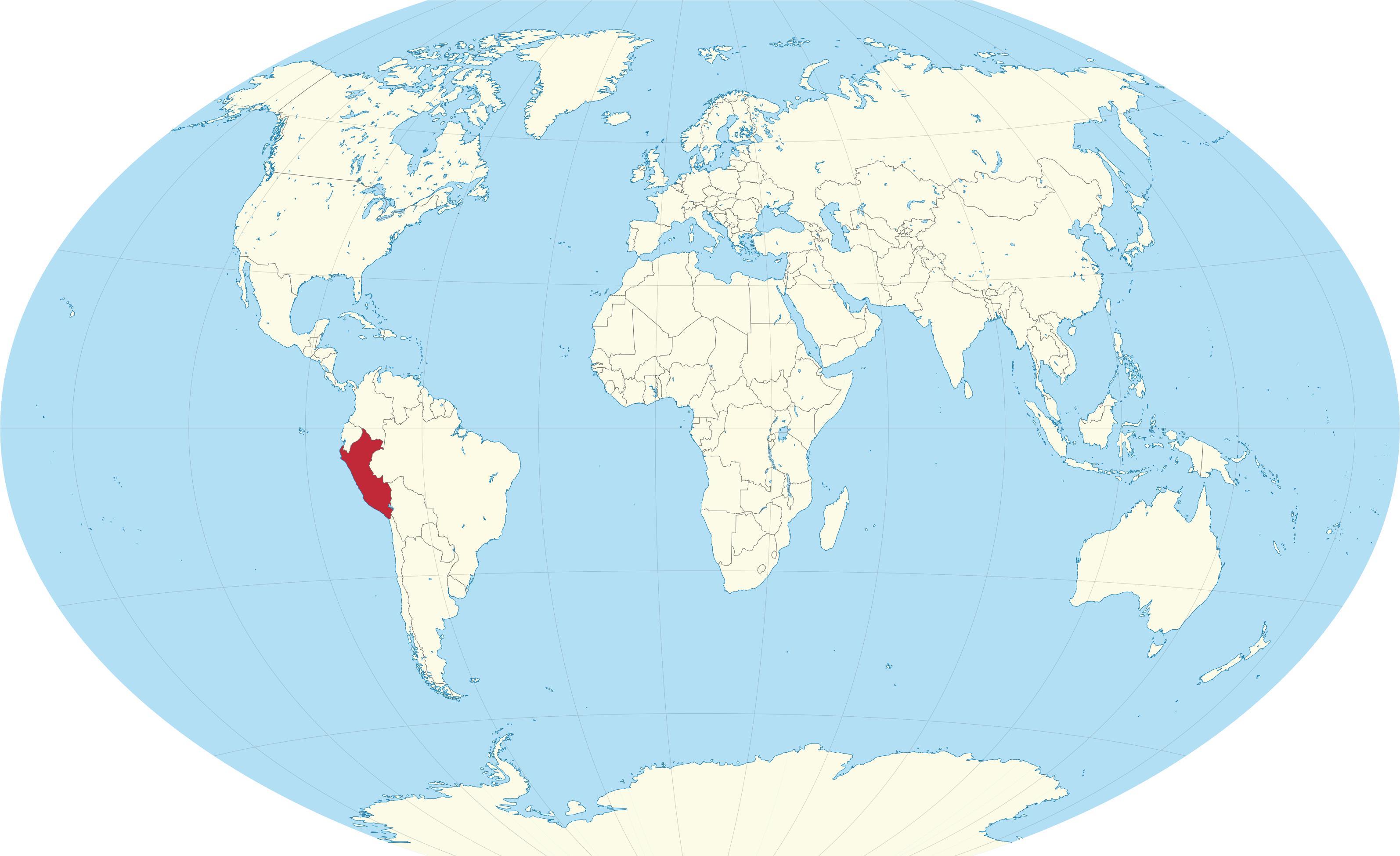 pérou carte du monde